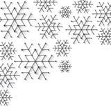 De sneeuwvlokachtergrond van Minimalistickerstmis Eenvoudig laag poly de winterthema royalty-vrije stock afbeeldingen