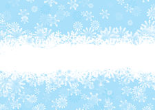 De sneeuwvlokblauw van Kerstmis Royalty-vrije Stock Foto