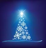 De sneeuwvlokboom van Kerstmis stock illustratie