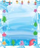 De sneeuwvlokeffect van de ster het zijstreep kader van waterverfkerstmis vector illustratie
