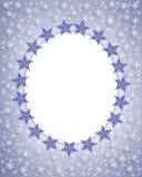 De sneeuwvlokFrame van Kerstmis   Royalty-vrije Stock Foto
