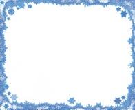 De sneeuwvlokframe van Kerstmis met exemplaarruimte Royalty-vrije Stock Afbeelding