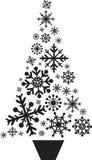De sneeuwvlokken van de kerstboom Royalty-vrije Stock Afbeelding