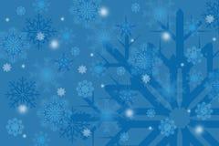 De sneeuwvlokken van de winter op achtergrond royalty-vrije illustratie