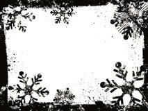 De sneeuwvlokken van Grunge Stock Foto's