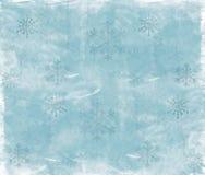 De Sneeuwvlokken van Grunge vector illustratie