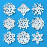 De Sneeuwvlokken van het document Reeks 3 Royalty-vrije Stock Foto's