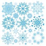 De sneeuwvlokken van inzamelingskerstmis Royalty-vrije Stock Afbeeldingen