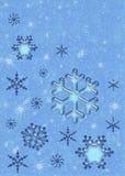 De sneeuwvlokken van Kerstmis. Stock Foto