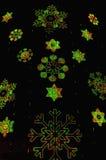 De sneeuwvlokken van Kerstmis Royalty-vrije Stock Afbeeldingen
