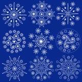 De Sneeuwvlokken van Kerstmis (Vector) Stock Fotografie