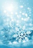 De sneeuwvlokken van Kerstmisdecoratie Stock Foto's