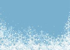 De sneeuwvlokkenachtergrond van de winter Royalty-vrije Stock Afbeelding