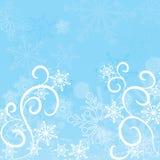 De sneeuwvlokkenachtergrond van de winter, vector vector illustratie