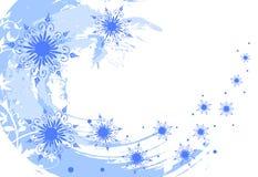 De sneeuwvlokkenachtergrond van Grunge Stock Foto