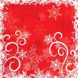 De sneeuwvlokkenachtergrond van Grunge, vector Royalty-vrije Stock Foto's