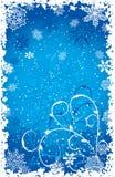 De sneeuwvlokkenachtergrond van Grunge, vector Royalty-vrije Stock Afbeeldingen