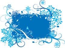 De sneeuwvlokkenachtergrond van Grunge, vector royalty-vrije illustratie