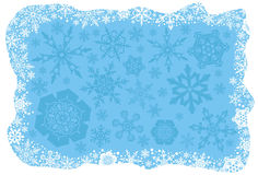 De sneeuwvlokkenachtergrond van Kerstmis Stock Afbeeldingen