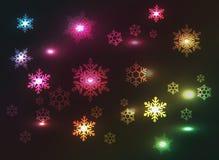 De sneeuwvlokkenachtergrond van Kerstmis Royalty-vrije Stock Foto's