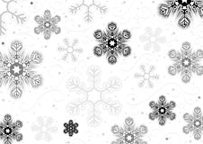 De sneeuwvlokkenachtergrond van Kerstmis Stock Foto's