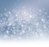 De sneeuwvlokkenachtergrond van Kerstmis vector illustratie