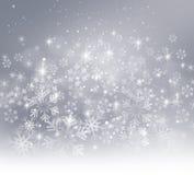 De sneeuwvlokkenachtergrond van Kerstmis stock illustratie