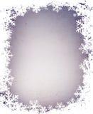 De sneeuwvlokkenframe van Grunge Royalty-vrije Stock Fotografie