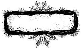 De sneeuwvlokkenframe van Grunge, vector Royalty-vrije Stock Fotografie