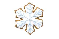 De sneeuwvlokkoekje van de peperkoek Stock Foto