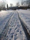 De sneeuwweg Stock Foto
