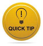 De snel hulp van de uiteinde gouden geel knoop en suggestieconcept stock illustratie