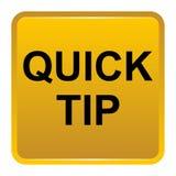 De snel hulp van de uiteinde gouden geel vierkant knoop en suggestieconcept stock illustratie