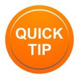 De snel hulp van de uiteinde oranje rond knoop en suggestieconcept vector illustratie