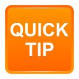 De snel hulp van de uiteinde oranje vierkant knoop en suggestieconcept vector illustratie