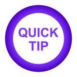 De snel hulp van de uiteinde purper rond knoop en suggestieconcept stock illustratie
