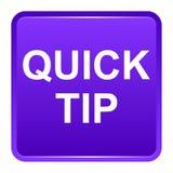 De snel hulp van de uiteinde purper vierkant knoop en suggestieconcept stock illustratie