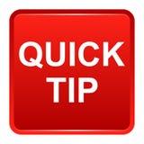 De snel hulp van de uiteinde rood vierkant knoop en suggestieconcept Stock Afbeelding