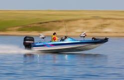 De snelheid van de boot Stock Foto