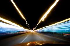 De snelheid van de nacht stock foto