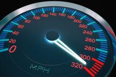 De snelheid van de snelheidsmeter hight Stock Foto