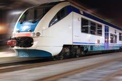 De snelheid van de trein Stock Afbeelding