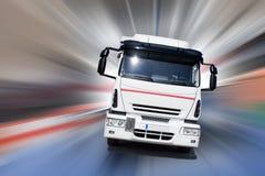 De snelheid van de vrachtwagen Stock Foto's