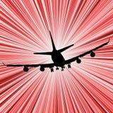 De snelheid van het vliegtuig Stock Foto