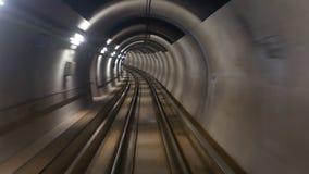 De snelheid van de metrotunnel stock video