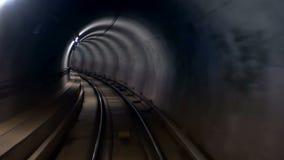 De snelheid van de metrotunnel stock videobeelden