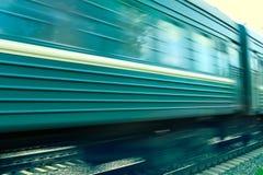 De achtergrond van de treinsnelheid royalty-vrije stock afbeeldingen