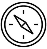 De snelheidsmeter isoleerde Vectorpictogram dat zich gemakkelijk kan wijzigen of uitgeven stock illustratie