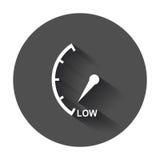De snelheidsmeter, tachometer, voorziet laag pictogram van brandstof Royalty-vrije Stock Afbeeldingen