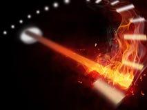 De snelheidsmeter van de brand stock afbeeldingen